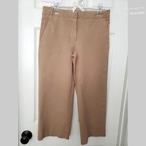 J. Crew Tan Cropped Chino Capri Wide Leg Pants